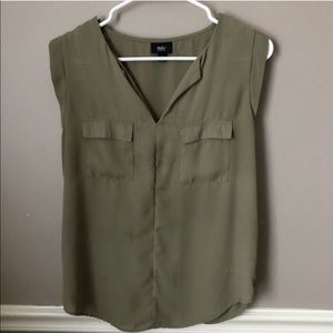 Mossimo Olive Green Blouse